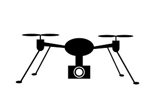 set of 10 illustrations of drone