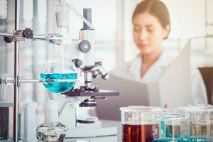 Laboratory or sciences concept.