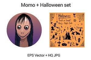 Momo + Halloween set