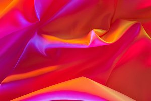 pink and orange shiny silk fabric ba