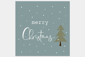 Christmas greeting card lettering