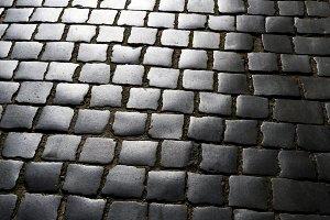cobblestone square in gradient