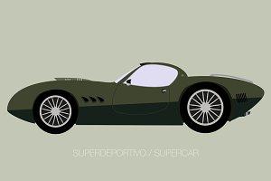 vintage super car