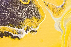 Abstract texture with yellow oil pai