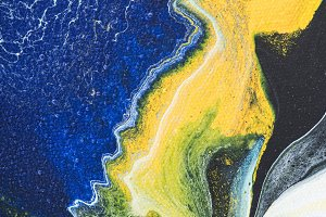 yellow and blue creative painting as