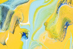Abstract acrylic texture with yellow