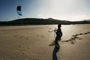 kite surf  in beach shore