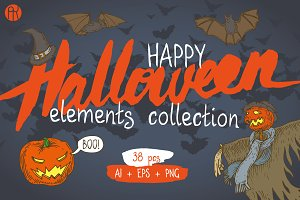 Happy Halloween Elements Collection