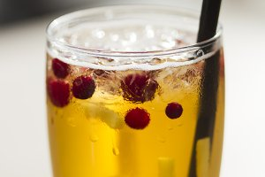 Lemonade with cranberry and ginger.