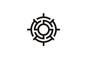 Labyrinth Compass logo design