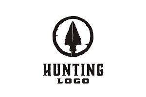 Hipster Rustic Arrowhead Hunt Logo