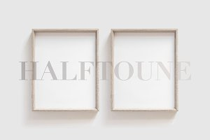 Set of 2 Frames Mockup 4x5 Ratio