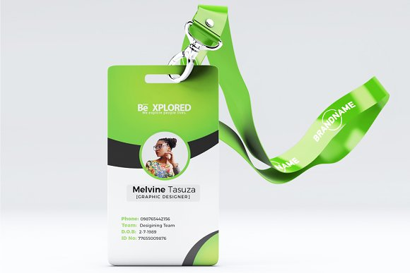 professional id card template 07 stationery templates creative