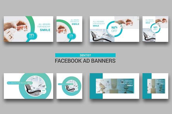 Dental Facebook Ads Facebook Templates Creative Market