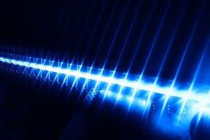 Blue neon led lightning background