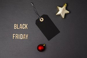 Christmas background and price tag