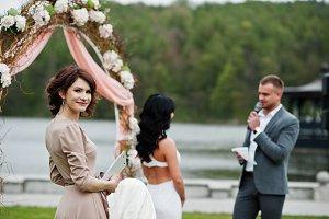 Speech master of wedding ceremony ag