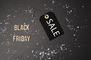 Black background and black tag