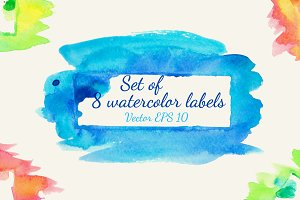 Watercolor labels