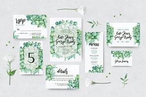 Green Hydrangea Wedding Set
