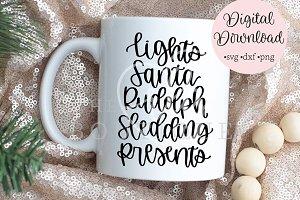 Lights Santa Rudolph Sledding