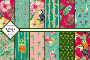 Tropical Bird Patterns Papers