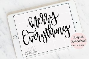 Merry Everything SVG , Christmas SVG