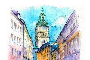 Church Storkyrkan in Stockholm