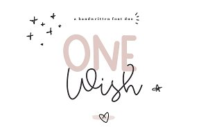 One Wish - Handwritten Font Duo