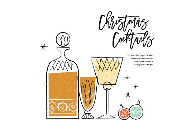 Vintage Christmas Cocktails