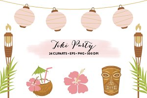 Tiki Party Set EPS & JPG
