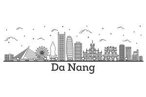 Outline Da Nang Vietnam City Skyline