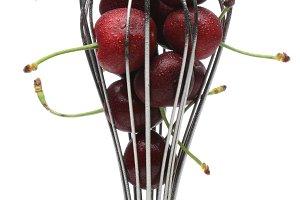 Whisk Full of Ripe Cherries