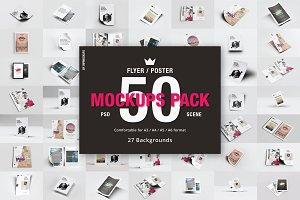 50 Flyer Poster Mockups Pack