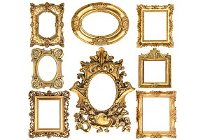 Baroque style antique golden frames