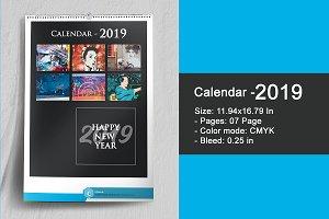 Wall Calendar 2019 - V16