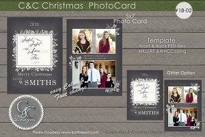 C&C Christmas Photo Card 18-02