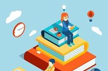 Read books concept