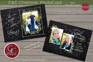 C&C Christmas Photo Card 18-03