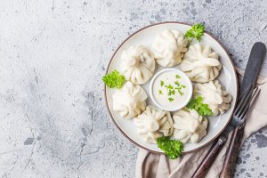 Georgian dumplings Khinkali