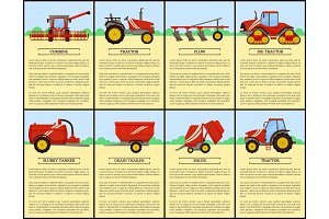 Agricultural Machinery Set, Cartoon