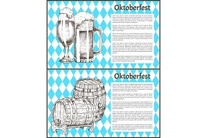 Oktoberfest Beer Objects Set Hand