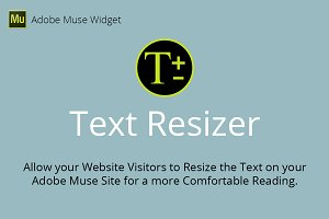 Text Resizer Adobe Muse Widget