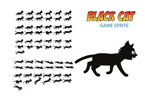 Black Cat Game Sprite