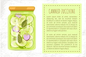 Canned Zucchini Poster Vector