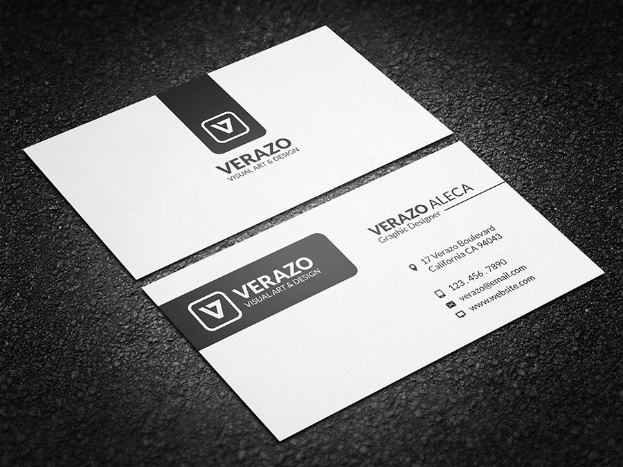 Clean Minimal Business Card ~ Business Card Templates ~ Creative ...