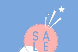 SALE badge shopping & retail vector