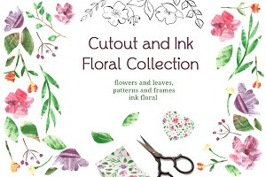 Cutout and Ink Floral Collection