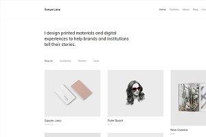 Sonya - Minimal Portfolio WP Theme
