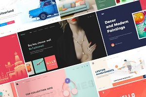 25+ Website headers collection